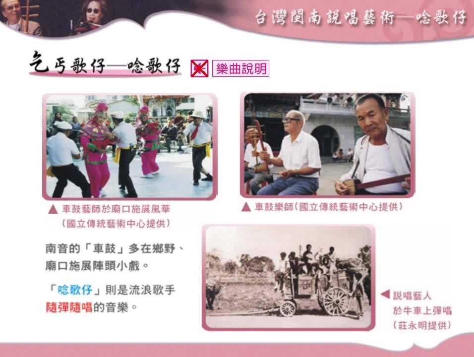 第1期歌仔戲-一、歌仔戲的成形發展期 - 江湖說唱與歌仔冊-1.台灣閩南說唱藝術-唸歌仔