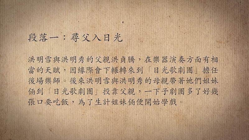 技藝.記憶-傳統藝術藝人口述歷史影像紀錄計畫-洪明雪、洪明秀段落1影片封面