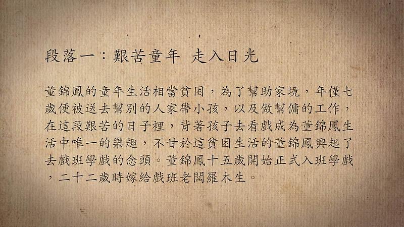 技藝.記憶-傳統藝術藝人口述歷史影像紀錄計畫-董錦鳳段落1影片封面