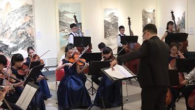 靜心高中國中弦樂團於國父紀念館演奏