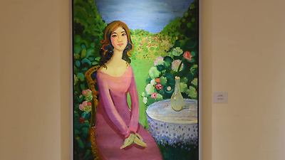 繽紛詩境--黃騰輝藝術創作的美學歷程展覽在國父紀念館展出