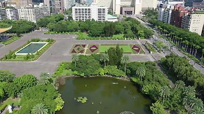 國立國父紀念館中山公園高空錄影-南方向